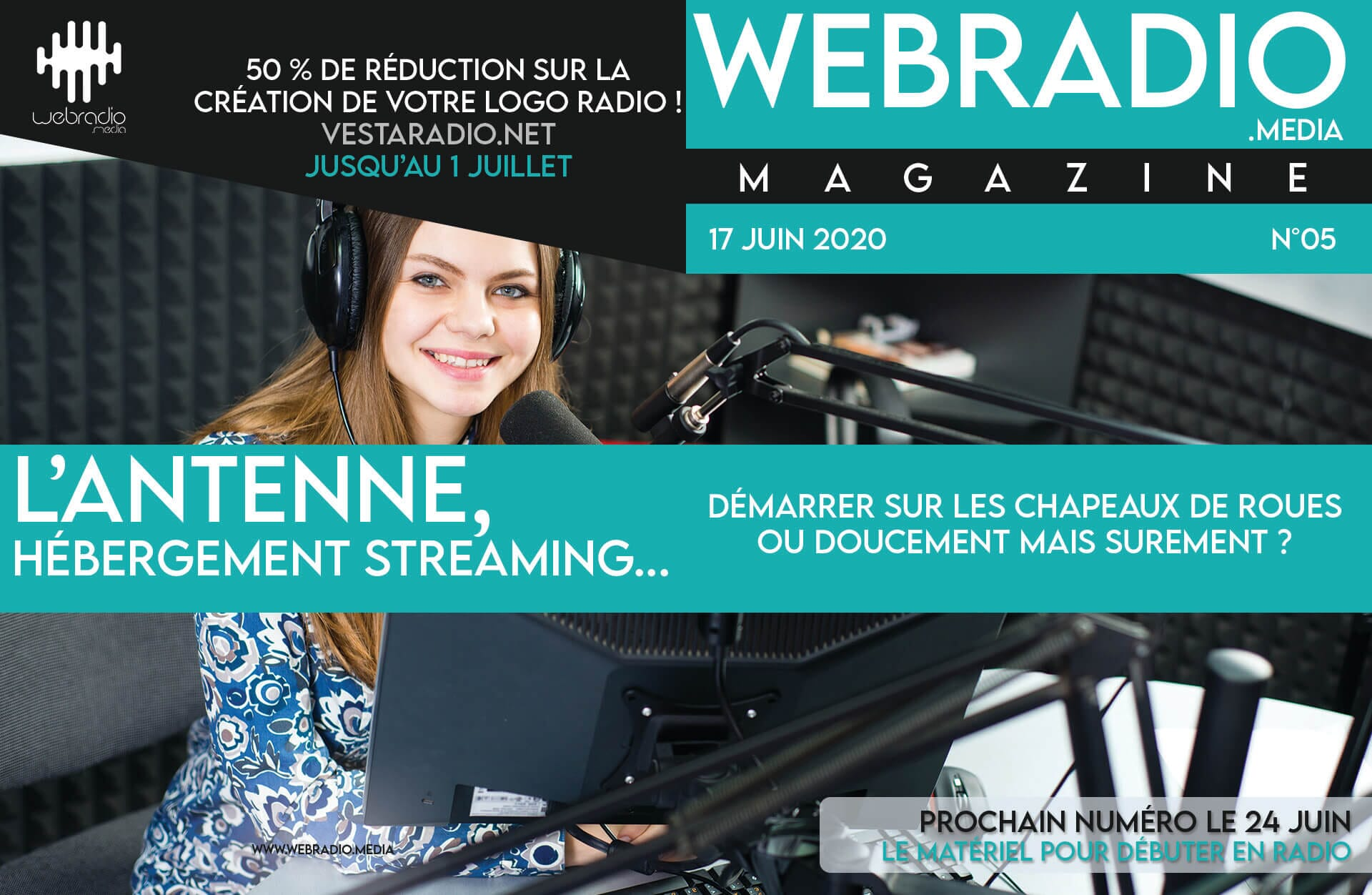 L'antenne, hébergement streaming radio